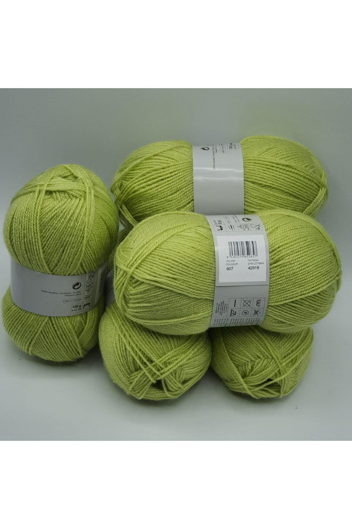 İhrac Fazlası 5'li Paket İnce Akrilik Lime Yeşili 338