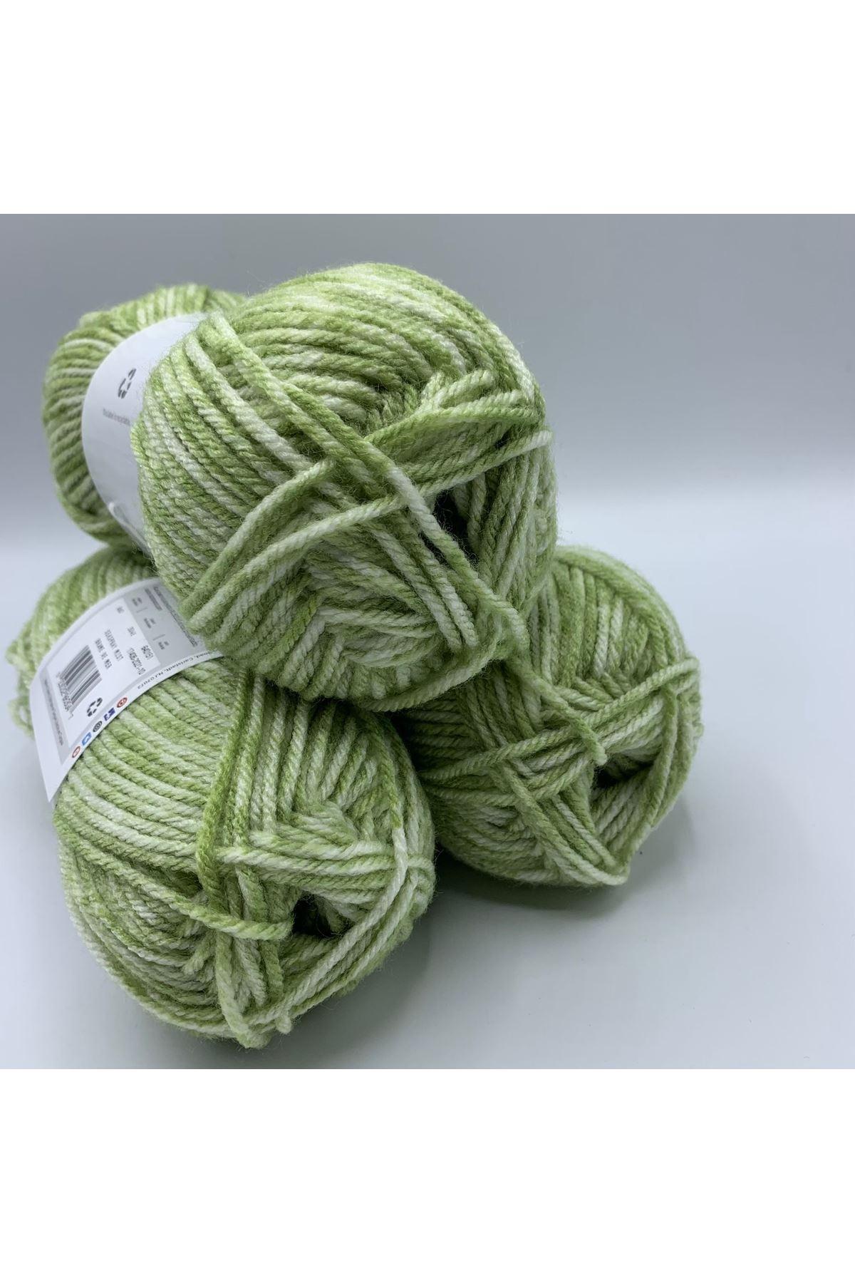 İhrac Fazlası 3'lü Paket Akrilik Yeşil Batik 345